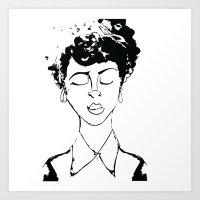 rosie print Art Print
