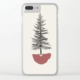 Fir Pine Clear iPhone Case