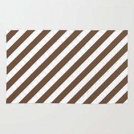 Diagonal Stripes (Coffee/White) Rug