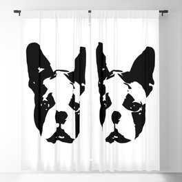 Boston Terrier Gifts Blackout Curtain