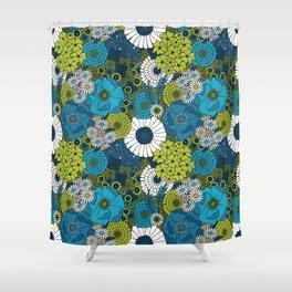 Vintage Florals Chrysanthemum Shower Curtain