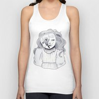 doll Tank Tops featuring Doll by scoobtoobins