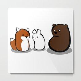 Animal Marshmallow Metal Print