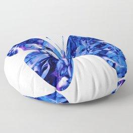 Fluid Butterfly (Blue Version) Floor Pillow
