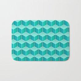 Ocean cubes, a symmetric pattern inspired by the sea. Bath Mat