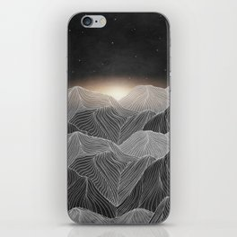 Lines in the mountains XIX iPhone Skin