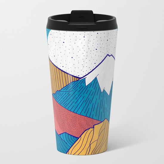 The Crosshatch Sky Metal Travel Mug
