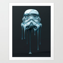 Stormtrooper Melting Dark Art Print