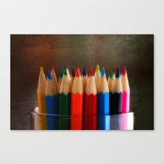 Rainbow Crayons Canvas Print
