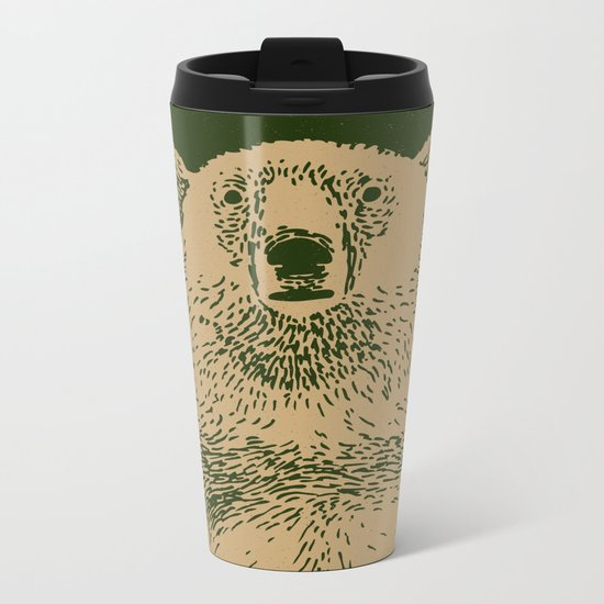 Kodiak Bear Metal Travel Mug