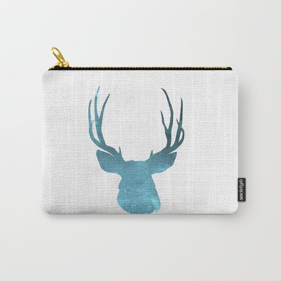Deer head and stag simple illustration Carry-All Pouch