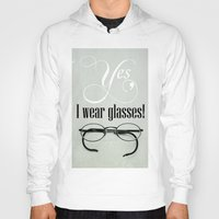 glasses Hoodies featuring Glasses by Julia Dávila-Lampe