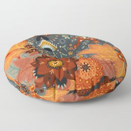 Foliage Cat Floor Pillow