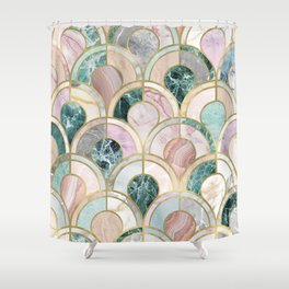 Marble Inlays Shower Curtain