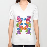 paisley V-neck T-shirts featuring Crazy Paisley by Digi Treats 2