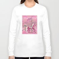 nursery Long Sleeve T-shirts featuring Carousel Dreams Nursery KIDS by BohemianBound