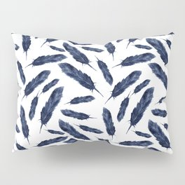 Watercolor pattern with navi feathers Pillow Sham