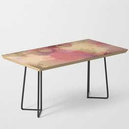 Modern Contemporary Ultra Violet Glow Abstract Coffee Table