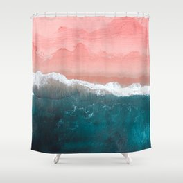 Turquoise Sea Pastel Beach II Shower Curtain