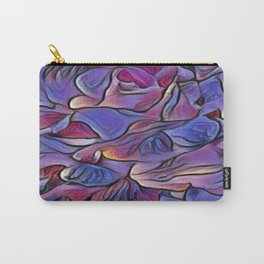 Flowing Soft Petal Abstract - Purple Carry-All Pouch