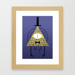 The beast with just one eye Framed Art Print