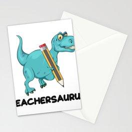 Teachersaurus Dinosaur T-Rex Teacher Gifts Stationery Cards