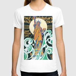 12,000pixel-500dpi - Joseph Christian Leyendecker - Statue Of Liberty - Digital Remastered Edition T-shirt