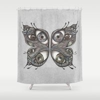 wings Shower Curtains featuring Wings by Lorri Leigh Art