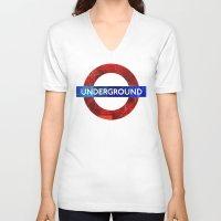 velvet underground V-neck T-shirts featuring Underground by Hipogrifos