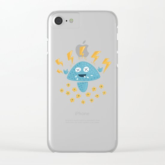 Heavy Metal Mushroom Clear iPhone Case