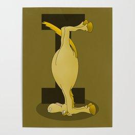 Pony Monogram Letter I Poster