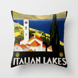 Italian Lakes Throw Pillow