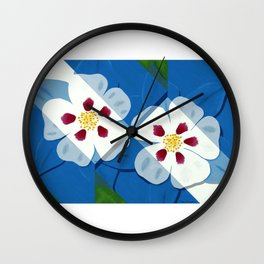Columbines Wall Clock