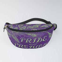 Pride and Prejudice, 1894 Peacock Cover in Purple Fanny Pack