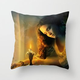Ghost love story | Cadence of her last breath Throw Pillow