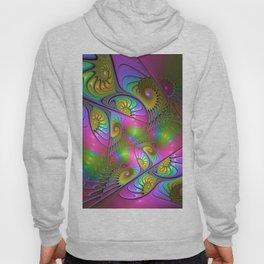 Colorful and Luminous Fantasy Fractal Art Hoody