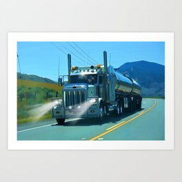 On the Highway Home Art Print