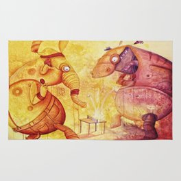 the unbelievable tabletennis- match of doom Rug