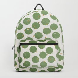 Green Dots and Gold Stars Backpack