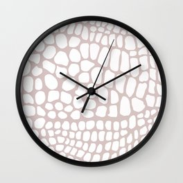 white and beige snakeskin Wall Clock