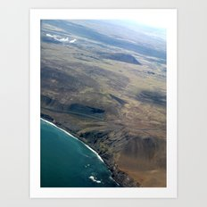 Iceland From Air Art Print