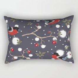 Bird and Berry Rectangular Pillow