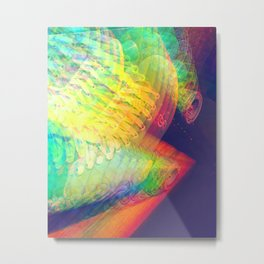 Rainbow Roller Disco Metal Print