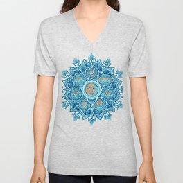 Alyson Anahata Seven Chakra Sun Flower Mandala 1 Unisex V-Neck