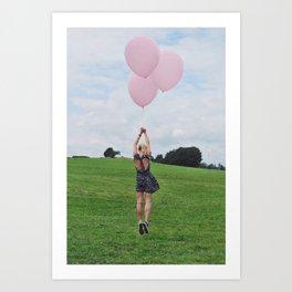 Bubblegum Balloon Escape Art Print