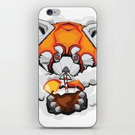 FIRE PANDA MECH STICKER - VAPORZOO iPhone Skin