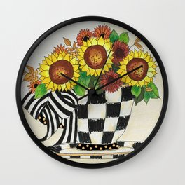 Sunflower Tea Wall Clock