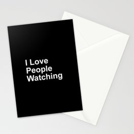 I Love People Watching Stationery Cards