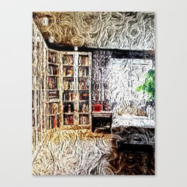 Cozy Library Room  Canvas Print