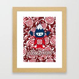 Alp Rescuer #character #design Framed Art Print